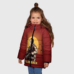 Детская зимняя куртка для девочки с принтом Stalin: Ill Be Back, цвет: 3D-черный, артикул: 10108286906065 — фото 2