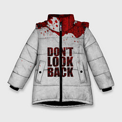 Куртка зимняя для девочки Don't look back цвета 3D-черный — фото 1