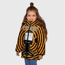 Куртка зимняя для девочки Не напрягайся! цвета 3D-черный — фото 2
