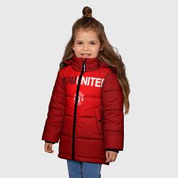 Куртка зимняя для девочки I am United цвета 3D-черный — фото 2