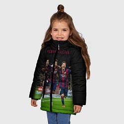Куртка зимняя для девочки Barcelona6 цвета 3D-черный — фото 2