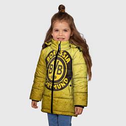 Куртка зимняя для девочки Borussia3 цвета 3D-черный — фото 2