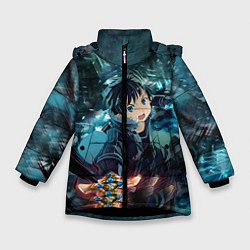 Куртка зимняя для девочки Мастера меча онлайн цвета 3D-черный — фото 1