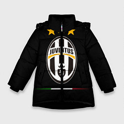 Куртка зимняя для девочки Juventus: 3 stars цвета 3D-черный — фото 1