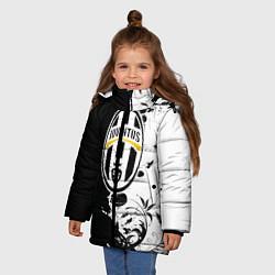 Куртка зимняя для девочки Juventus4 цвета 3D-черный — фото 2