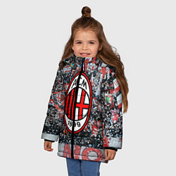 Куртка зимняя для девочки Milan FC цвета 3D-черный — фото 2