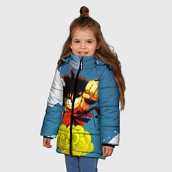 Куртка зимняя для девочки Small Goku цвета 3D-черный — фото 2