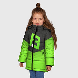 Куртка зимняя для девочки FlipSid3 Uniform цвета 3D-черный — фото 2