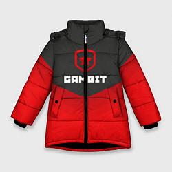 Куртка зимняя для девочки Gambit Gaming Uniform цвета 3D-черный — фото 1
