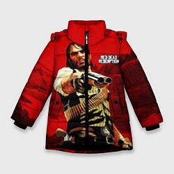Куртка зимняя для девочки Red Dead Redemption цвета 3D-черный — фото 1
