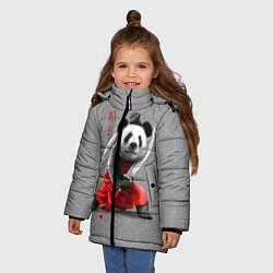 Куртка зимняя для девочки Master Panda цвета 3D-черный — фото 2