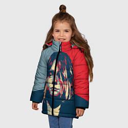 Куртка зимняя для девочки Kurt Cobain цвета 3D-черный — фото 2