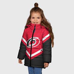 Куртка зимняя для девочки NHL: Carolina Hurricanes цвета 3D-черный — фото 2