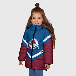 Куртка зимняя для девочки NHL: Colorado Avalanche цвета 3D-черный — фото 2