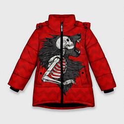 Куртка зимняя для девочки Wolf Rage цвета 3D-черный — фото 1