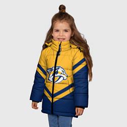Куртка зимняя для девочки NHL: Nashville Predators цвета 3D-черный — фото 2