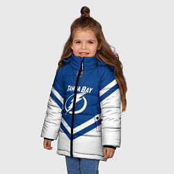 Куртка зимняя для девочки NHL: Tampa Bay Lightning цвета 3D-черный — фото 2