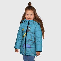 Куртка зимняя для девочки Коржик качок цвета 3D-черный — фото 2