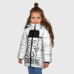 Детская зимняя куртка для девочки с принтом Zoidberg, цвет: 3D-черный, артикул: 10113802706065 — фото 2