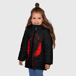 Детская зимняя куртка для девочки с принтом Zombie Rock, цвет: 3D-черный, артикул: 10114189106065 — фото 2