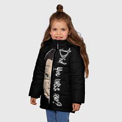 Куртка зимняя для девочки Did you miss me? цвета 3D-черный — фото 2