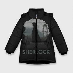 Куртка зимняя для девочки Sherlock World цвета 3D-черный — фото 1