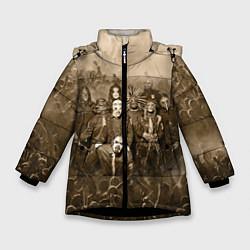 Куртка зимняя для девочки Slipknot Sepia цвета 3D-черный — фото 1