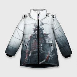 Куртка зимняя для девочки Shadow Tactics цвета 3D-черный — фото 1