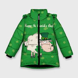Куртка зимняя для девочки Ирландия цвета 3D-черный — фото 1