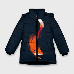 Куртка зимняя для девочки Хитрая лисичка цвета 3D-черный — фото 1