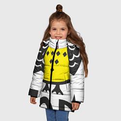 Куртка зимняя для девочки Сова: пора в отпуск! цвета 3D-черный — фото 2