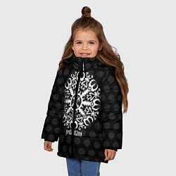 Куртка зимняя для девочки Шлем благоговения цвета 3D-черный — фото 2