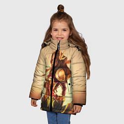 Куртка зимняя для девочки Ginger цвета 3D-черный — фото 2