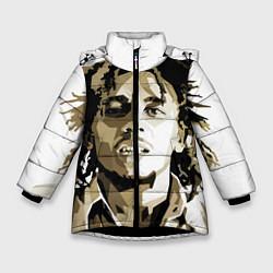 Куртка зимняя для девочки Bob Marley: Mono цвета 3D-черный — фото 1