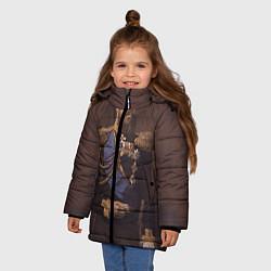 Куртка зимняя для девочки Александр III Миротворец цвета 3D-черный — фото 2