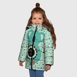 Куртка зимняя для девочки Мечтающая коала цвета 3D-черный — фото 2