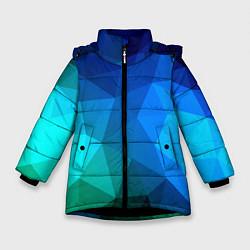 Куртка зимняя для девочки Fight Polygon цвета 3D-черный — фото 1