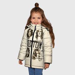 Куртка зимняя для девочки Led Zeppelin Guys цвета 3D-черный — фото 2