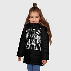 Куртка зимняя для девочки Led Zeppelin: Mono цвета 3D-черный — фото 2