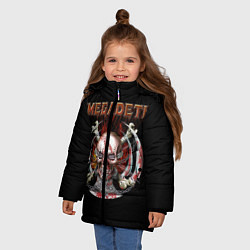 Куртка зимняя для девочки Megadeth: Skull in chains цвета 3D-черный — фото 2