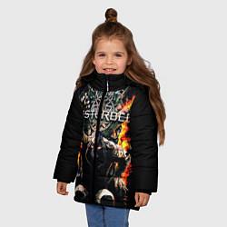 Куртка зимняя для девочки Disturbed: Flame Throne цвета 3D-черный — фото 2