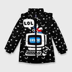 Куртка зимняя для девочки Fatal Error цвета 3D-черный — фото 1