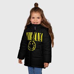 Куртка зимняя для девочки Nirvana Rock цвета 3D-черный — фото 2