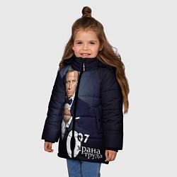 Куртка зимняя для девочки Агент охраны труда цвета 3D-черный — фото 2