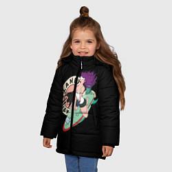 Куртка зимняя для девочки Leela Express цвета 3D-черный — фото 2