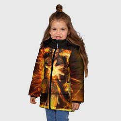 Куртка зимняя для девочки Witcher gwent 3 цвета 3D-черный — фото 2