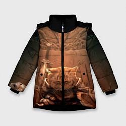 Куртка зимняя для девочки Довакин цвета 3D-черный — фото 1