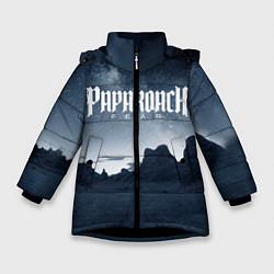 Куртка зимняя для девочки Paparoach: Fear цвета 3D-черный — фото 1