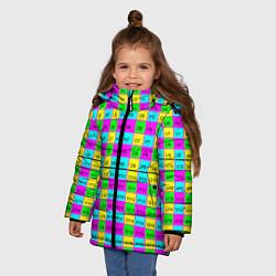 Куртка зимняя для девочки Тестовый яркий цвета 3D-черный — фото 2
