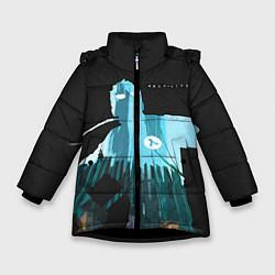 Куртка зимняя для девочки Half-Life City цвета 3D-черный — фото 1